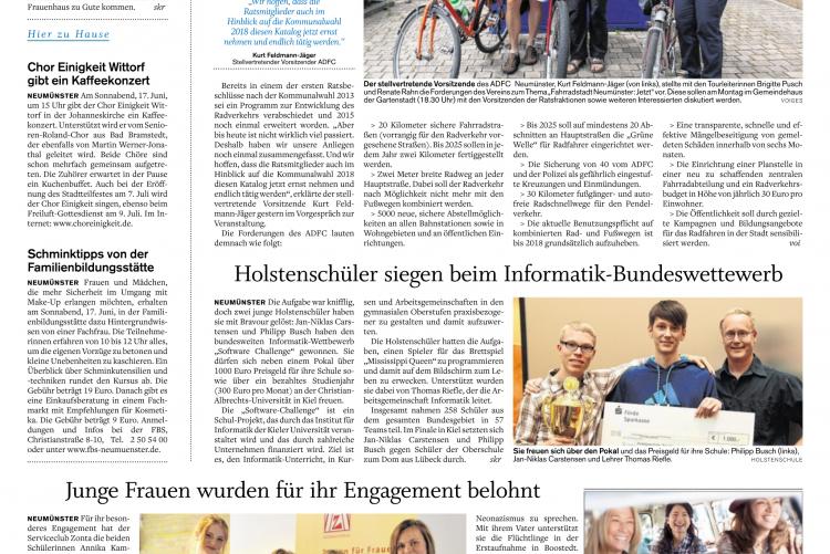 Presse shz 9.06.2017