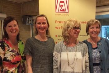 der neue Vorstand vlnr: Susanne Sparka, Astrid Frevert, Martina Fesser, Astrid Andresen
